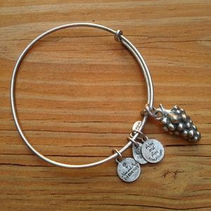 Alex & Ani Silver Grape bangle.